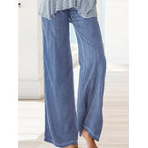 Donne Yoga Solid Long Straight Pantaloni
