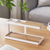 Desktop Remote Control Storage Shelf Phone Stand Bracket Keys Storage Rack Organizer