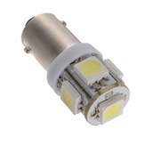 T11 BA9S T4W 5050 SMD Wedge Side 5LED Lampadina Xenon White Car lampada DC12V
