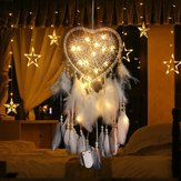 LED Night Light Dream Catcher Girls Dreamlike Feather Romantic Dreamcatcher for Indoor Bedroom
