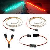 DIY Zestaw taśm LED RC Zielony Czerwony Flash Lampka nocna z modułem pilota 5V do samolotu RC Naprawiono skrzydło