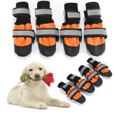 4Pcs Pet Dog Rain Snow Boots Warm Shoe Anti-slip Footwear Sock Waterproof Shoe Covers