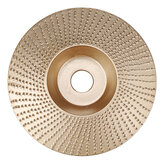 Drillpro 110mm Tungsten Carbide Wood Shaping Disc Carving Disc 16mm Bore Sanding Grinder Wheel for 100 115 Angle Grinder