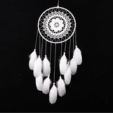 Handmade Black Feather Lace Dream Catcher Bead Hanging Decor Home Car Wall Decorations