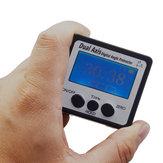 Eixo Duplo Mini Digital Ângulo Medidor de 360 Graus IP54Water À Prova D 'Água Digital Transferidor Inclinômetro Nível Eletrônico Caixa Medidor de Ângulo com Base Magnética Ferramentas de Medição