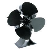 4 Jiletler Isı Powered Odun Sobası Fan Ahşap Kütük Brülör Şömine Çevre Dostu Fan Hiçbir Elektrik