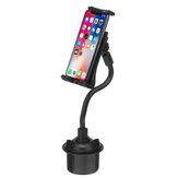 Универсальный 360 градусов регулируемый 21см гибкий длинный рычаг Авто подстаканник телефон крепление для планшета Stand Holder