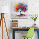 Gerahmte Colorful Baum abstrakte Print Art Ölgemälde Bild Home Decor