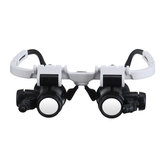 Headband Head-Mounted Repair LED Lamp Light Magnifying Glass Magnifier Loupe
