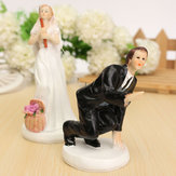 العروس والعريس الراتنج حفل زفاف كعكة توبر الحب تفضل تمثال الزينة