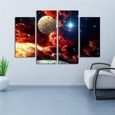 Miico Χειροποίητη Τέσσερις Συνδυασμοί Διακοσμητικοί Πίνακες Κοσμικό Starry Sky Wall Art για διακόσμηση σπιτιού
