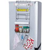 5層アイアンウォールマウントキッチンフリーザードアスパイスラック収納棚キャビネットオーガナイザー冷蔵庫ホルダー