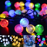 21ft Solar Powered String Lights 30 Balls Crystal Home Outdoor LED Fairy Lights Decorations