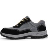 TENGOO Zapatos de seguridad para hombre Zapatos de trabajo Impermeable Zapatillas de senderismo antideslizantes con punta de acero para correr