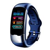 Bakeey H02 HRV EKG + PPG Monitör Kalp Kan Basıncı Oranı O2 Parlaklık Kontrolü Spor Fitnes Akıllı Saat