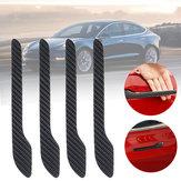 4 X calcomanías para automóviles con manija de puerta de fibra de carbono 200 x 90 mm para Tesla modelo 3