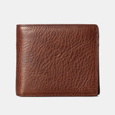 Men Genuine Leather Reto Wallet Card Holder