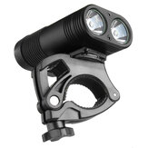 3000LM Double LED Rechargeable Bicycle Head Light Bike USB Lamp+Rotating Mount Headlamp