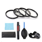 Close-up +1/+2/+4/+10 49/52/55/58/62/67/72/77mm Lens Filter Storage Bag Lens Hood Cap Blower Brush Kit Set