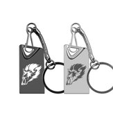 Wolf USB Flash Drive Metal Super Mini USB2.0 32G 64G USB2.0 Portable Pen drive Flash Memory USB Stick with Key Chain
