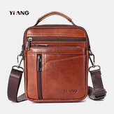Men Small Genuine Leather Large Capacity Bag Crossbody Bag