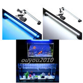 42 LED 37CM Acuario Pecera Ligera Impermeable Azul luz LED Bar Sumergible