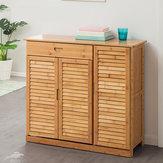 2/3 Door Shoe Cabinet With Drawer Entryway Hallway Storage Organizer Racks Wood