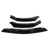 3Pcs Glossy Black Front Ladekantenschutz Lip Spoiler Covers Trim für Mercedes Benz CLA-Klasse W117 2016-2020