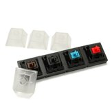 4 tampas transparentes e 4 kit Cherry Tester MX Switch Keycap Sampler Tester