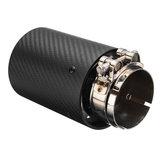 66mm-93mm Terminali di scarico posteriori in fibra di carbonio opaco Tubi di marmitta in acciaio per BMW Serie M