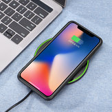 Bakeey 10W Qi Wireless Fast Charger Charging Pad Mat Metal For iPhone XS Mobile Phone for Samsung S10