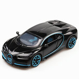 1:32 Bugatti Chiron Legering Metalen Trek Diecast Auto Model met Sound Light Collection Car Toys
