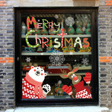 Miico XL866 Christmas Sticker Home Sticker Décoration Fenêtre et Sticker Mural Shop Décoratif Stickers