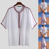 Heren Kurta witte halflange etnische top tuniek Kurta Casual Shirt Plus Maat
