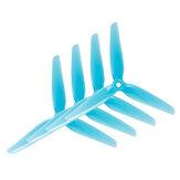 HQProp HeadsUp Yarış 3-Bladed Prop R38 Mavi (2CW + 2CCW) Poli Karbonat Pervane FPV Yarış RC Drone Için Çok Rotor Parçaları