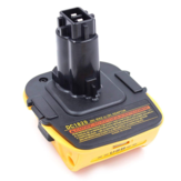 Replacement De-walts 20V DCA1820 with USB Adapter Battery Adapter for De-walts 18V Tools Convert De-walts 20V Lithium Battery DCB204 DCB205 DCB206 DCB606 to De-walts 18V Battery Tools DC9096 DW9096