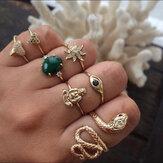 Vintage anneaux de strass géométriques