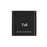 TX8 Bluetooth 5.0 Draadloze Audio Zender Ontvanger 2-in-1 Auto Audio Adapter AUX 3.5mm