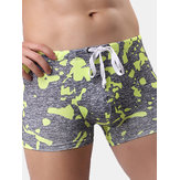 Swimming Hot Spring Surf Camo Printing Swimming Trunks for Men