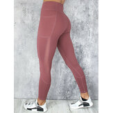 Casual Mesh Stitching Yoga Running Sport Slim Leggings