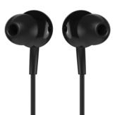 JOWAY HP50 Fone de ouvido intra-auricular leve de 3,5 mm com fio Fone de ouvido musical com microfone
