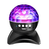 Cristal sem fio Bluetooth Magic Ball Speaker Colorful Palco rotativo RGB LED Luz do projetor 1500 mah para KTV Dance Bar