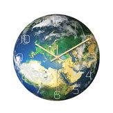 Loskii CC091 Creative Luminous Europe Earth Zegar ścienny Wyciszony zegar ścienny Kwarcowy zegar ścienny do dekoracji wnętrz biurowych