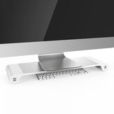 Aluminum Desktop Monitor Notebook Laptop Stand Non-slip Desk Riser with 4-ports USB charger for iMac, MacBook Pro, Air