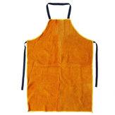 Protezione per saldatore per grembiule da saldatura in pelle di vacchetta per abbigliamento meccanico