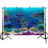 Photography Backdrop Cartoon Underwater World Baby Shower Birthday Party Decor