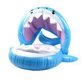 Kid Kinderen Opblaasbaar Zwemring Baby Float Haai Zwembad met afneembaar zonnescherm