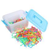 400 قطع ذكي عصا لغز لعب الأطفال التعليمية بناء كتلة اللعب