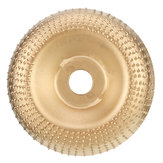 Drillpro 100mm Curve Extreme Shaping Disc Carbide Wood Carving Disc Gold Grinder Disc for 100 115 Angle Grinder Woodworking Tool