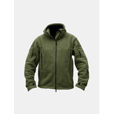 Männer taktisches Militär Winter Vlies mit Kapuze Outdoor Sports Jacke
